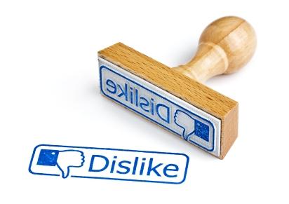 butonul dislike