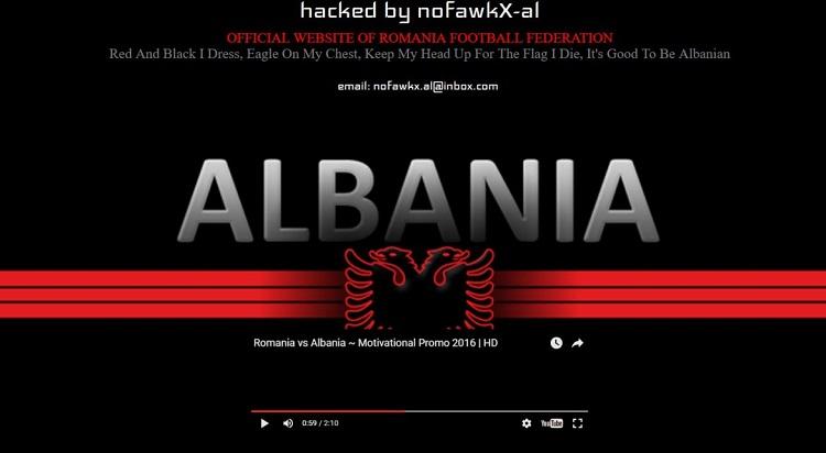 siteul frf spart de hackerii albanezi